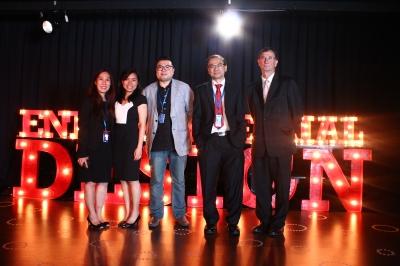 From left: Assoc. Prof. Dr.Hon Wei Min, Ms Pouline Koh Chai Lin, Dr Benny Lim, Professor Dr. Khong Yoon Loong and Mr. Ian Howard Davies @ Tuan Haji Iskandar Abdullah